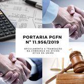 Procuradoria da Fazenda Nacional publica Portaria nº 11.956/2019